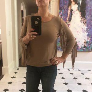 Ya Los Angeles Fringe Sleeve blouse Small